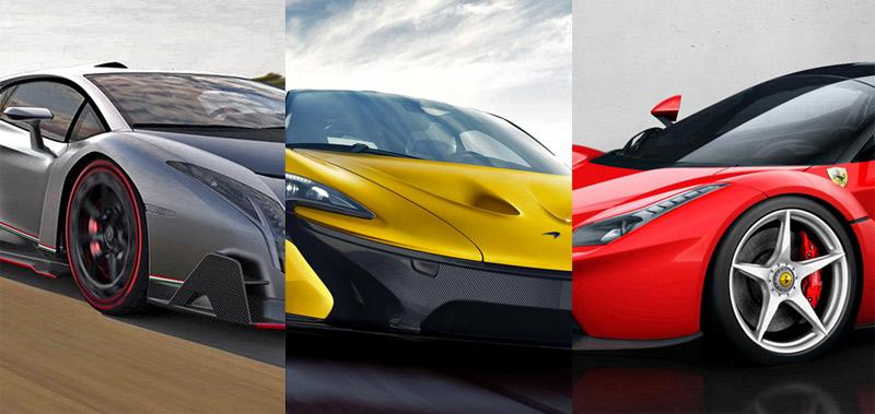 Ferrari, Lamborghini, McLaren