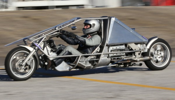 Suprine Exodus recumbent motorcycle