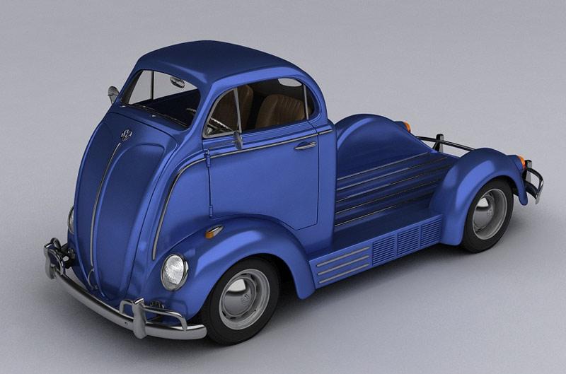 VW Fusca pickup concept