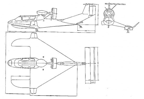 RFG X-114 Airfoilboat drawing