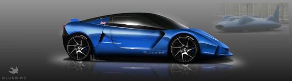 Bluebird DC50 electric sports car