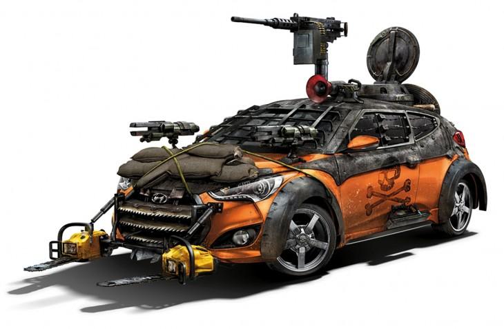 Hyundai Veloster Zombie Survival Machine