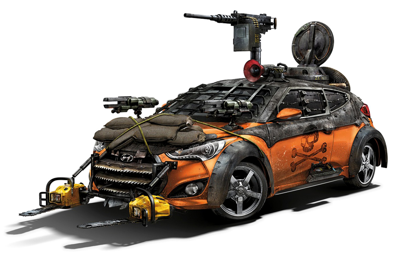The Hyundai Veloster Zombie Survival Machine was built by Galpin Auto ...