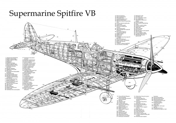 Supermarine Spitfire diagram