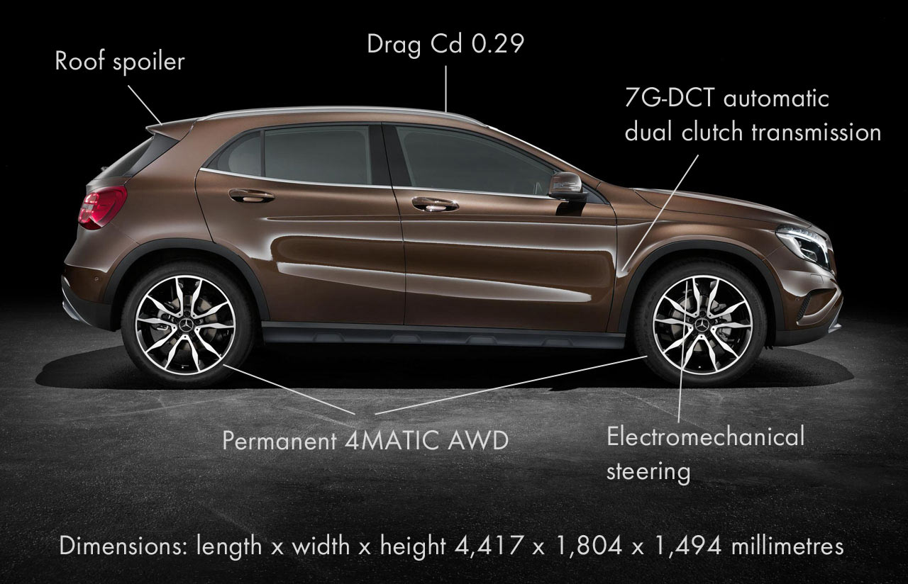 the interior of the mercedes benz gla is versatile and has a cargo area which can be expanded considerably by lowering the rear seat backs - Mercedes Suv Interior 2014