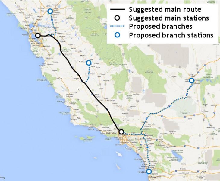 Hyperloop route