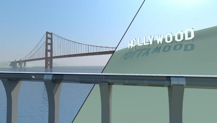 Hyperloop tube bridge