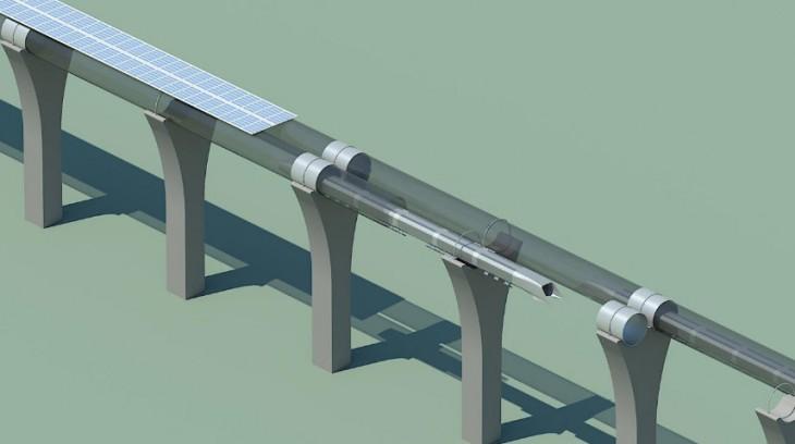 Hyperloop tube cutaway