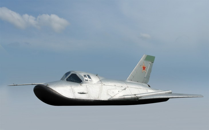 MiG-105 Spiral Spaceplane in flight