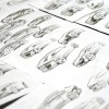 Porsche 822 Compact concept car sketches