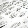 Porsche 822 Compact concept car sketches