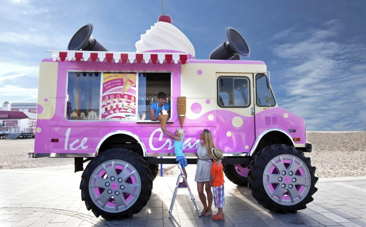 Skoda monster truck ice cream van