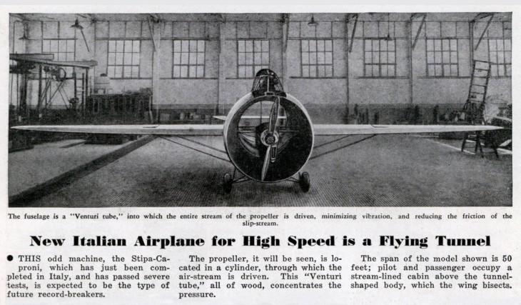 Stipa-Caproni strange aircraft