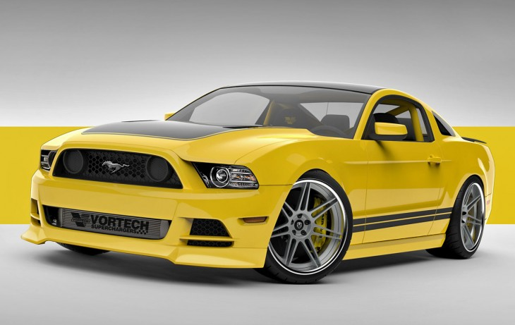 Ford Mustang Vortech Yellow Jacket SEMA 2013