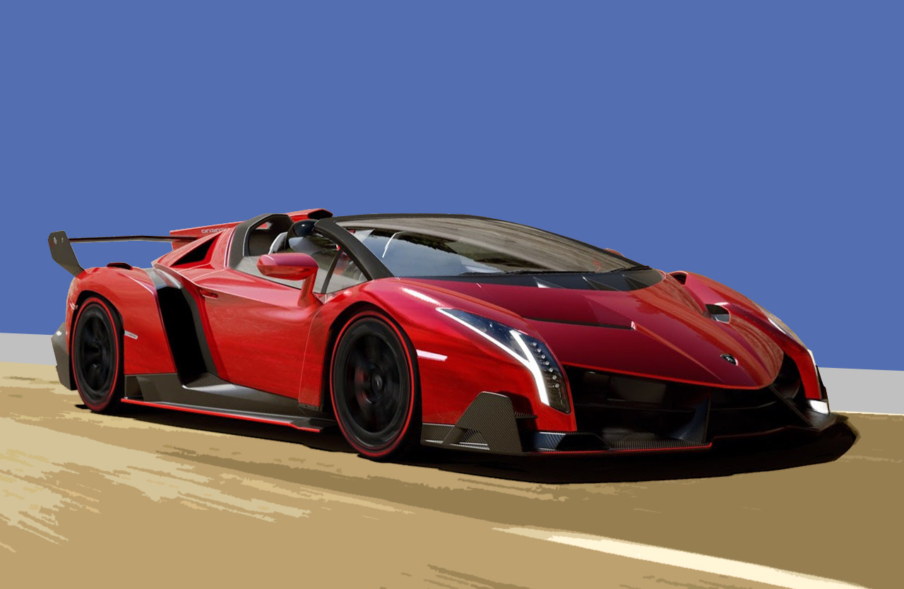lamborghini veneno roadster nomana bakes. Black Bedroom Furniture Sets. Home Design Ideas