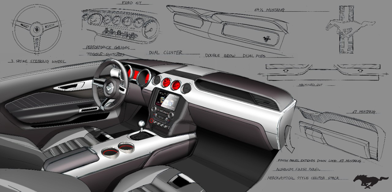 all new 2015 ford mustang diseno art - Ford Gt40 2015 Interior