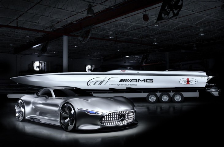 AMG Vision concept and powerboat
