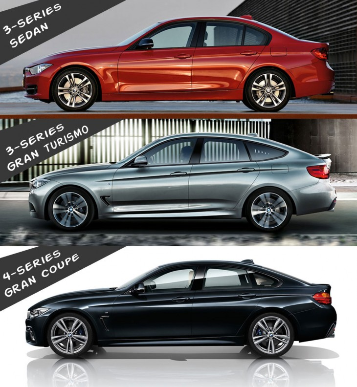 BMW 3 and 4 series gran coupe