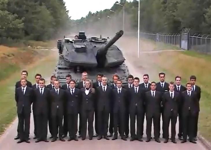 Leopard tank extreme brake test