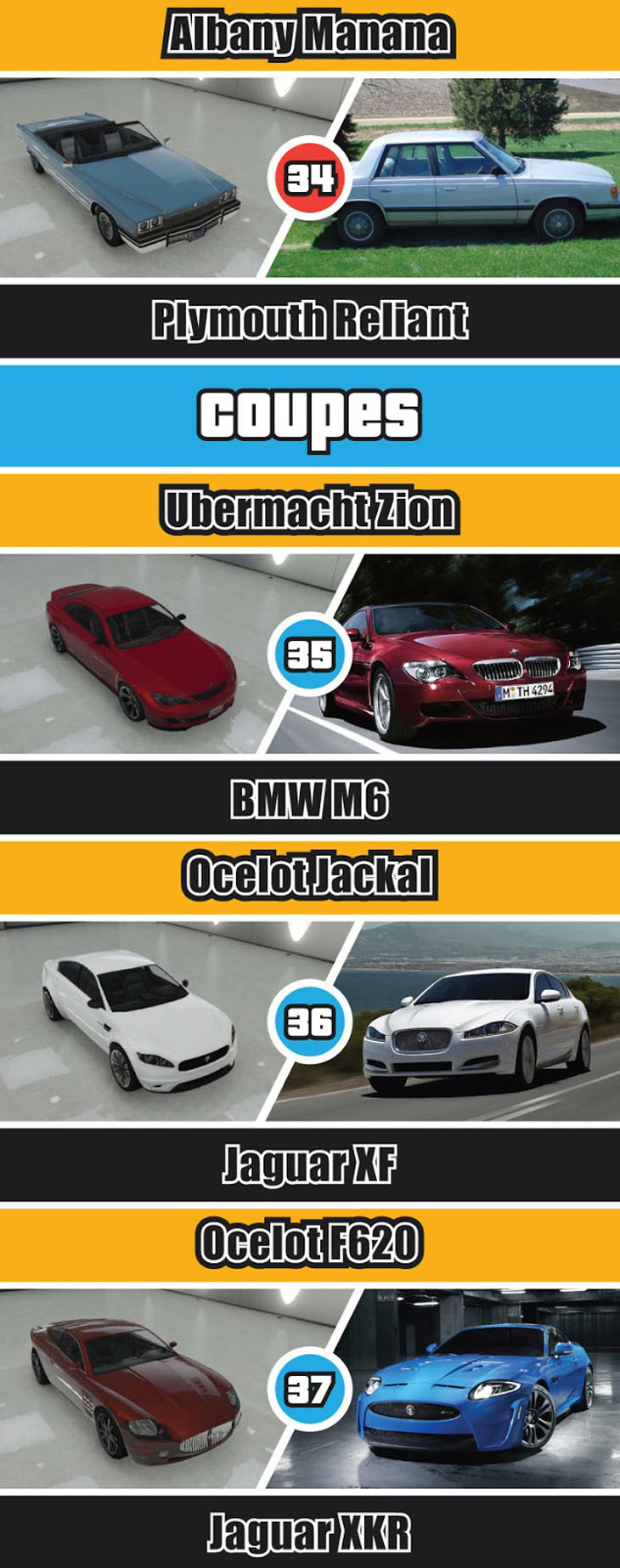 gta cars real life names