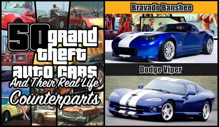 50 GTA V Cars And Their Real World Counterparts