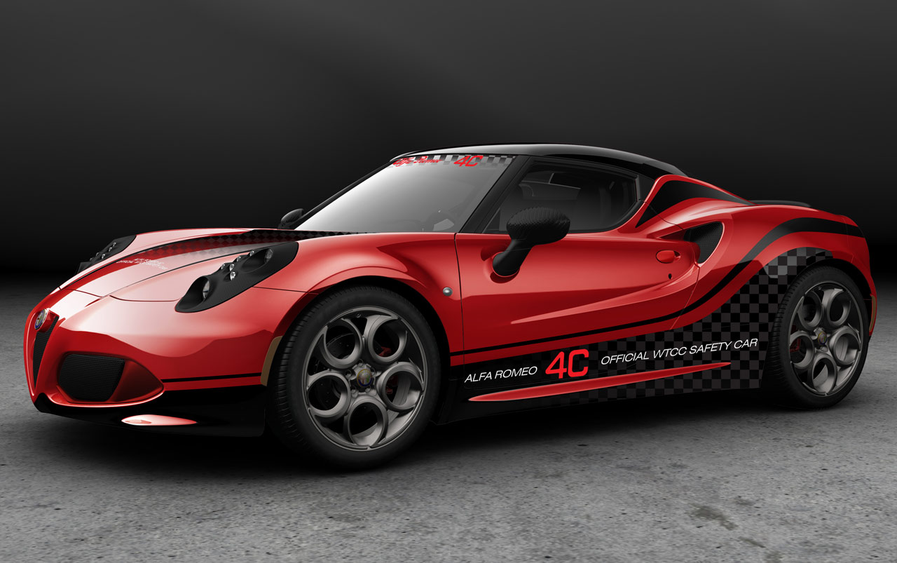 Alfa Romeo 4C in Safety Car livery for 2014 WTCC