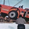 Antarctic Snow Cruiser after falling of a bridge