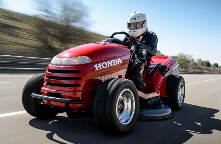 Honda Mean Mower the World's Fastest Lawn Mower