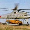 Mil Mi-10 helicopter transporting truck
