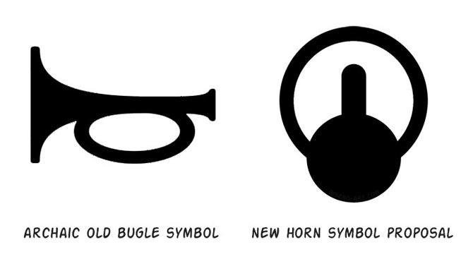 new car horn symbol