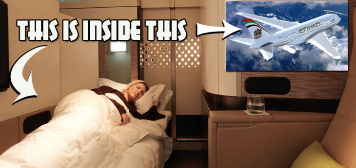 Etihad The Residence suite inside A380