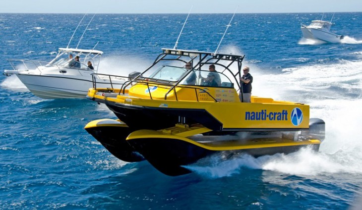 Nauti-Craft 2Play catamaran suspension system