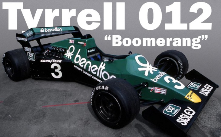 Tyrrell 012 Boomerang F1 car