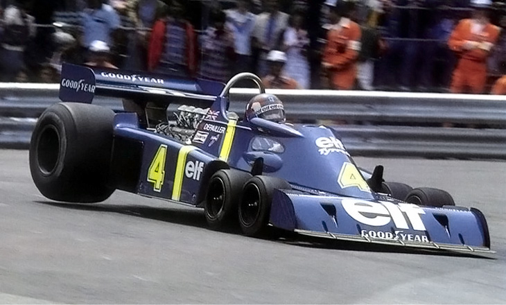 Tyrrell P34 six-wheel race car