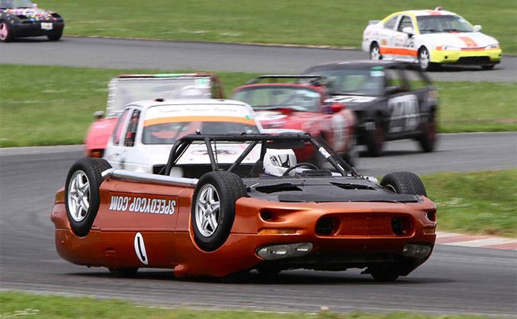 speedycop upside down race car