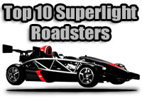 top ten superlight roadsters
