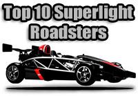 top ten superlight roadsters
