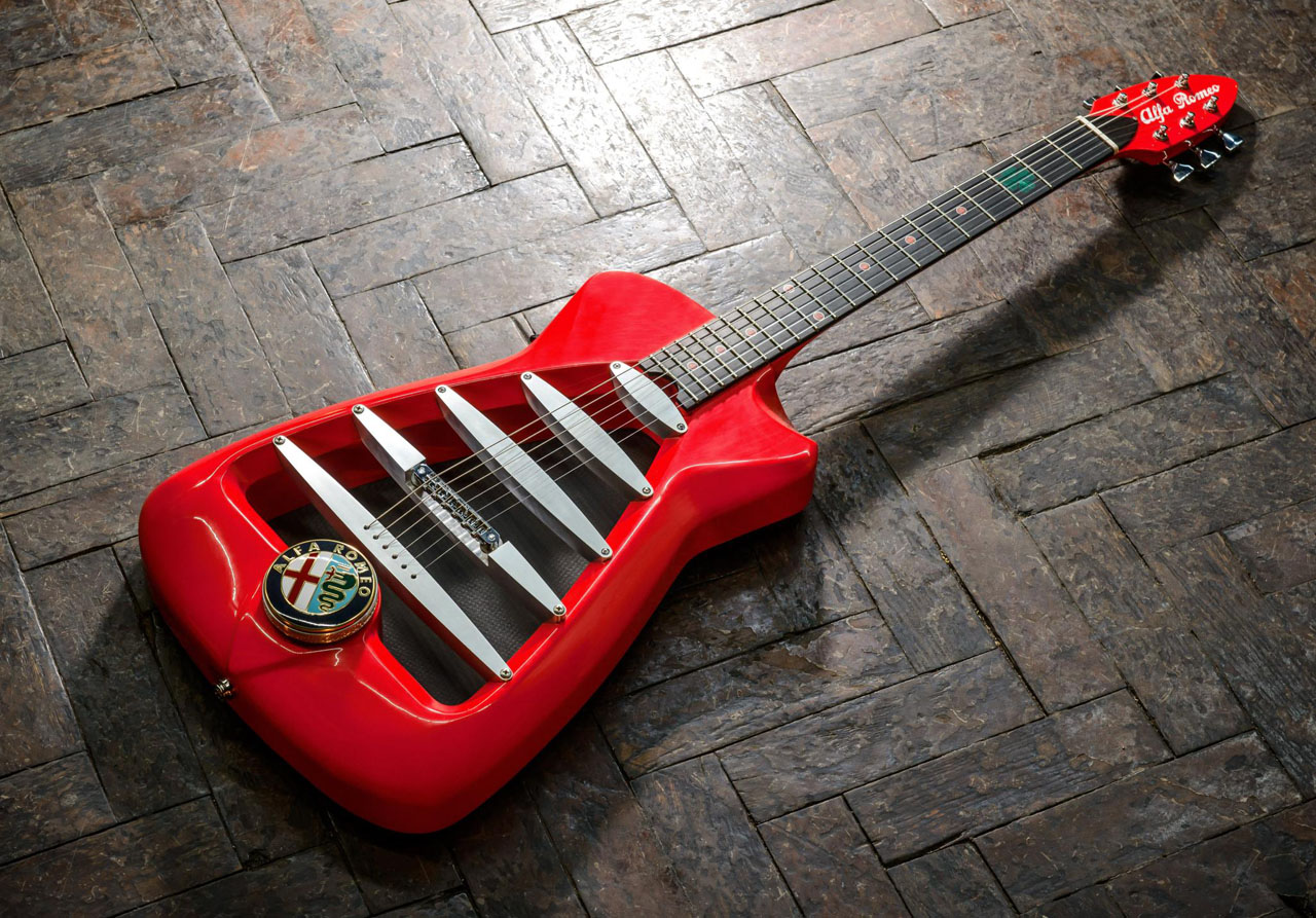 Limited edition Alfa Romeo electric guitar