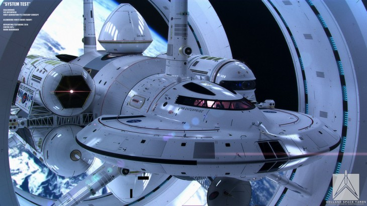 ISX Enterprise warp-drive spacecraft