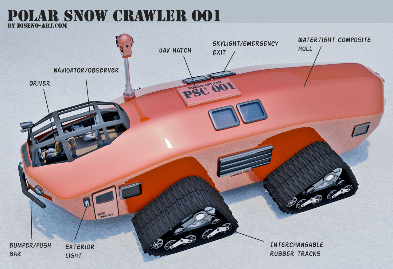 1930s Inspired Polar Snow Crawler Psc 001 Diseno Art