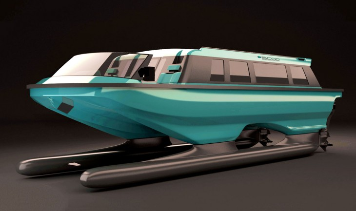 SWATH Electra Glide Limousine yacht Tender by SCOD