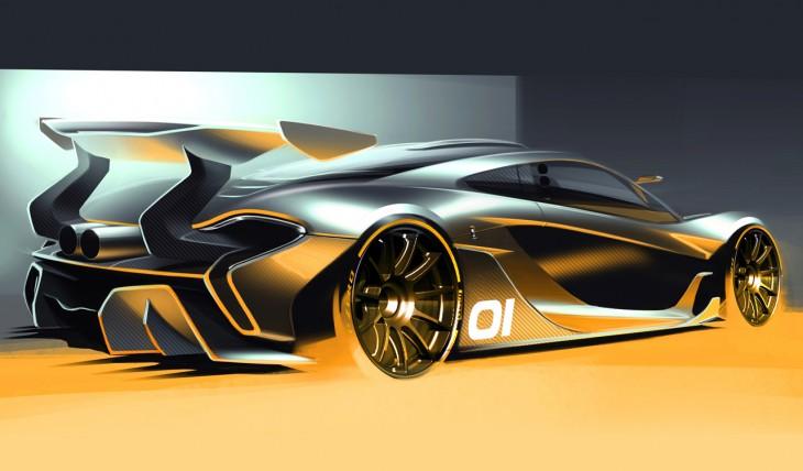 McLaren P1 GTR rear view