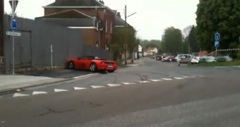 Video: Ferrari 348 driver loses control after showing off