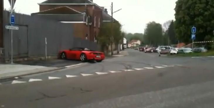 Ferrari 348 crash