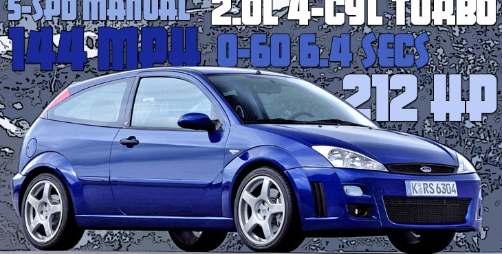 Ford focus rs mk1 hot hatches