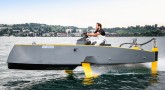 HYDROS HY-X retractable hydrofoil boat prototype