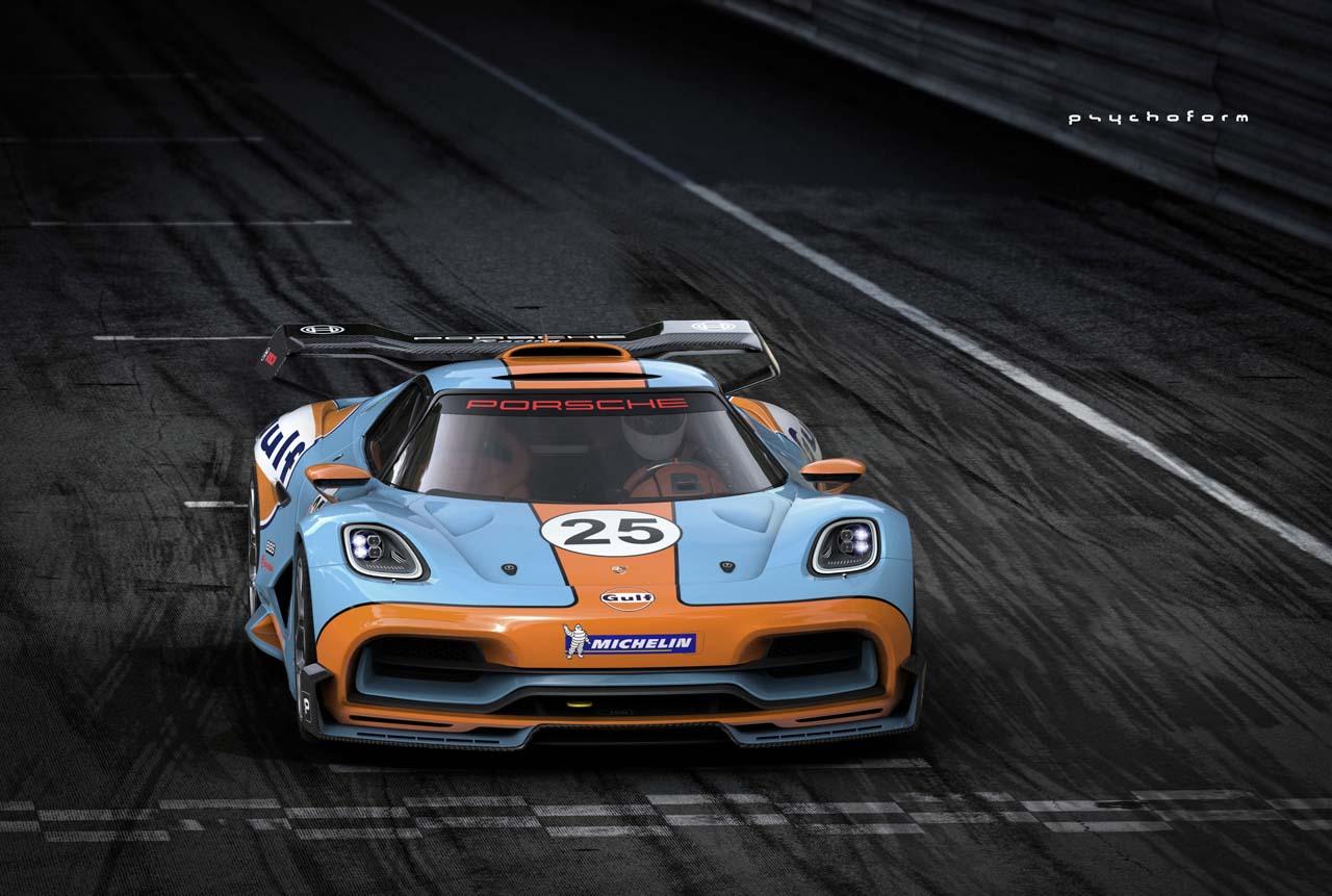 Porsche 913 Supercar Concept Diseno Art