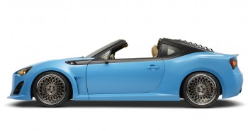 Scion FR-S T1 features targa roof and rear louvres