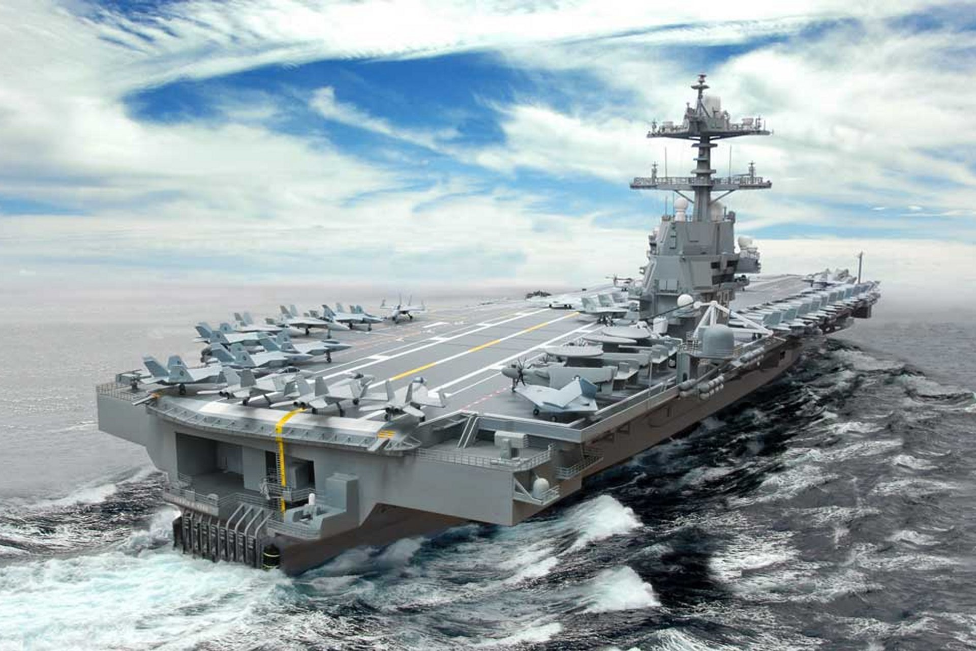Captivating USS Gerald Ford Aircraft Carrier