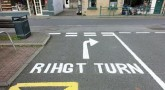 Road workers 'rihgt' turn road sign mistake